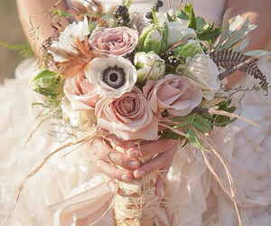 wedding, bouquet, and beautiful image