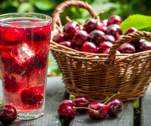 cherry, drink, and fruit image