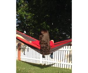 brunette, hammock, and summer image