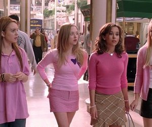 mean girls, pink, and movie image