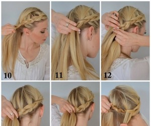 braid, braided hair, and braids image