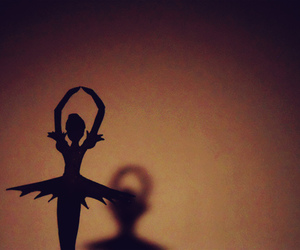 ballerina, cutout, and silhouette image