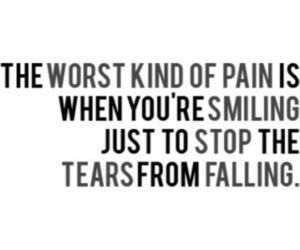 pain, tears, and quotes image
