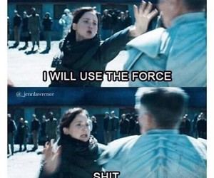katniss, funny, and hunger games image