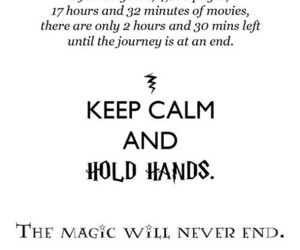 harry potter, hold hands, and keep calm image