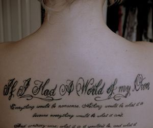 alice in wonderland, tattoo, and quote image