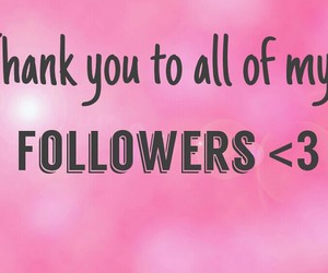 followers, thank you, and love image