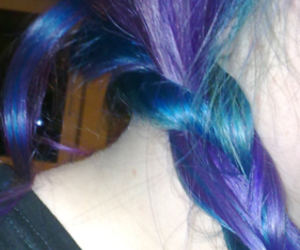 blue, scene hair, and colorful hair image
