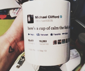 5sos, michael clifford, and cup image