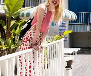 Elle Fanning, smile, and blonde image