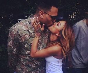chris brown, couple, and love image