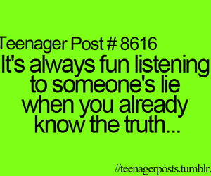 quote, funny, and lies image