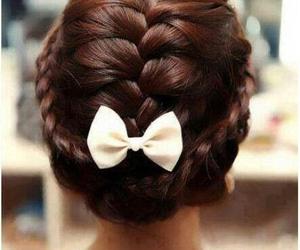 hair, braid, and bow image