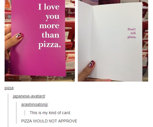 funny, card, and pizza image