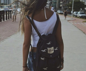 hollister, backpack, and summer image