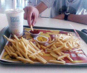 food, fries, and McDonald's image