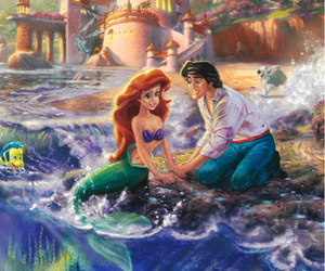 ariel, art, and love image