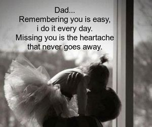 dad, Father and Daughter, and heartache image