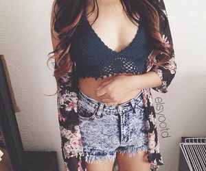 crochet, floral, and hipster image