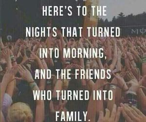 friends, family, and night image
