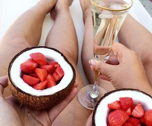 coconut, food, and relax image