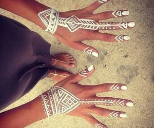 white, nails, and summer image