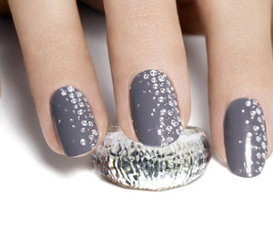 nails, diamond, and grey image