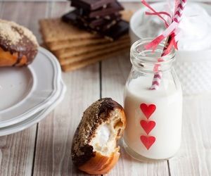 chocolate, milk, and Cookies image