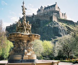 castle, fountain, and photography image