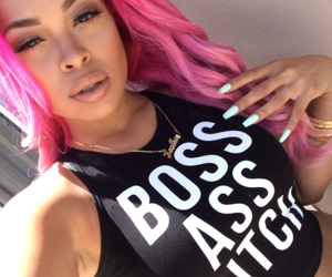 beauty, pink hair, and swag image