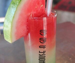 colorful, drink, and watermelon image