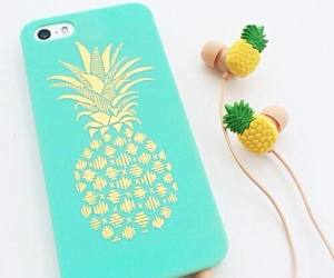 pineapple, iphone, and case image
