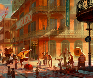 the Princess and the frog and disney concept art image