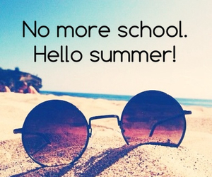summer, beach, and school image