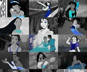 blue, disney, and princess image