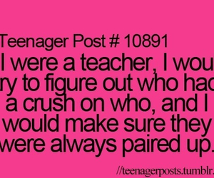 funny, crush, and school image