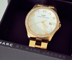 gold, watch, and marc jacobs image