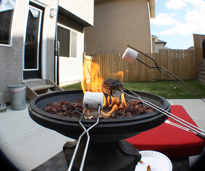 photography, fire, and marshmallow image