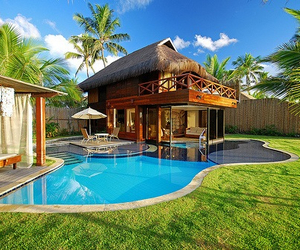 house, pool, and summer image