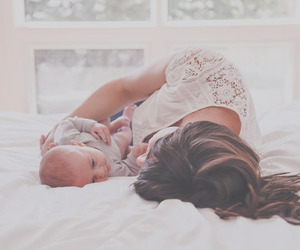 adorable, baby, and brunette image