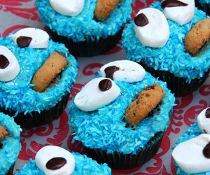 blue, colorful, and cookie image