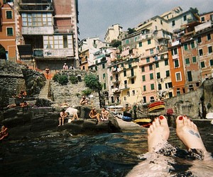 photography, water, and feet image
