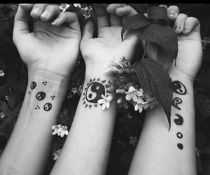 flowers, tattoo, and hipster image