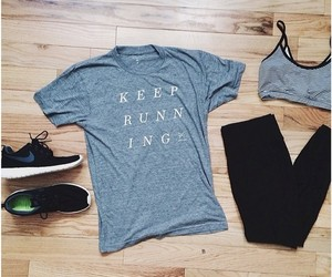 fit, running, and fitness image