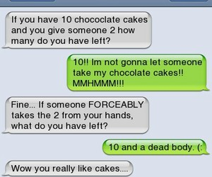 cake, funny, and message image