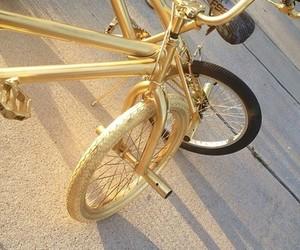 gold, bike, and tumblr image
