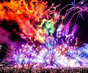 music, ultra, and fireworks image