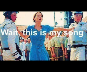 funny, song, and the hunger games image
