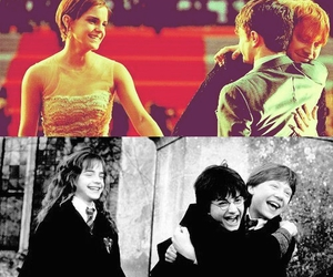 hermione granger, ron weasley, and love image