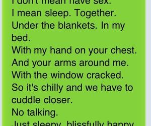 love, sleep, and text image
